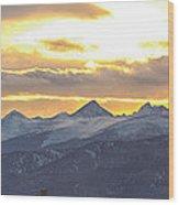 Colorado Front Range Panorama Gold Wood Print