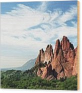 Colorado - Garden Of The Gods Wood Print