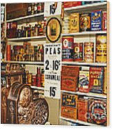 Colorado General Store Supplies Wood Print