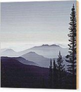 Colorado Haze Wood Print by Adam Romanowicz