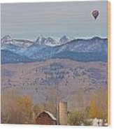 Colorado Hot Air Ballooning Wood Print