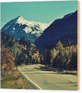 Colorado Hwy Wood Print