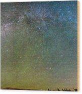 Colorado Indian Peaks Milky Way Panorama Wood Print