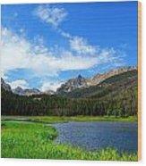 Colorado Lake Wood Print