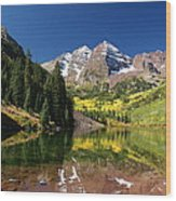 Colorado Maroon Bells Wood Print