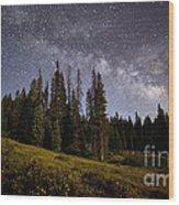 Colorado Milky Way Wood Print