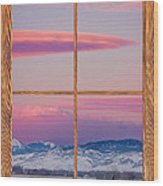 Colorado Moon Sunrise Barn Wood Picture Window View Wood Print