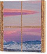 Colorado Moon Sunrise Barn Wood Picture Window View Wood Print