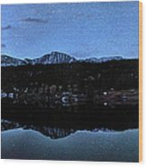 Colorado Moon To Milk Wood Print