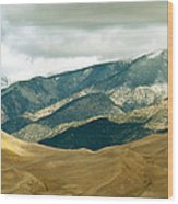 Colorado Mountain View Wood Print by Eva Kato