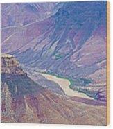 Colorado River At Cape Royal On North Rim Of Grand Canyon-arizona Wood Print