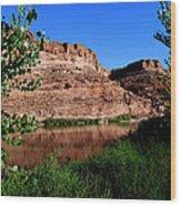Colorado River At Moab Wood Print