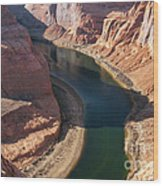 Colorado River Bend Wood Print