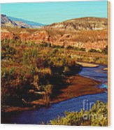Colorado River Wood Print by Eva Kato