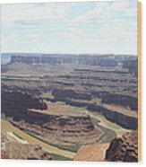 Colorado River From Dead Horse Point  Wood Print