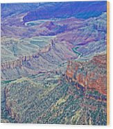 Colorado River From Walhalla Overlook On North Rim Of Grand Canyon-arizona Wood Print