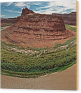 Colorado River Gooseneck Wood Print