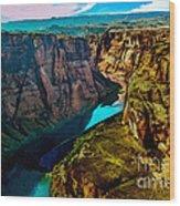 Colorado River Grand Canyon Wood Print