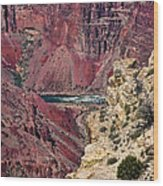 Colorado River In Grand Canyon Wood Print