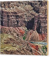 Colorado River In The Grand Canyon High Water Wood Print