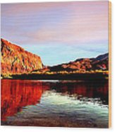 Colorado River Lees Ferry Painting Wood Print