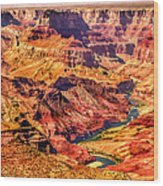 Colorado River 1 Mi Below 100 Miles To Vermillion Cliffs Utah Wood Print