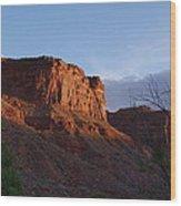 Colorado River Sunrise Wood Print