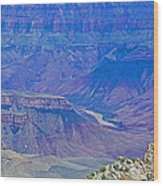 Colorado River Two At Cape Royal On North Rim Of Grand Canyon-arizona Wood Print