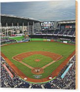Colorado Rockies V Miami Marlins Wood Print