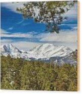 Colorado Rocky Mountain View Wood Print