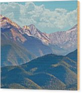 Colorado Sideroad Mountains Wood Print