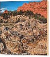 Colorado Springs Icon Wood Print