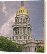 Colorado State Capitol Building Denver Co Wood Print