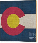 Colorado State Flag Wood Print