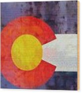 Colorado State Flag Weathered And Worn Wood Print