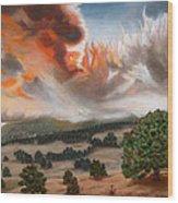 Colorado Wildfire-fern Lake Wood Print