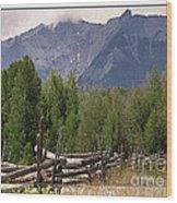 Colorado Wilson Peak Clouds Wood Print