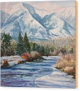 Colorado Winter On The Arkansas River Wood Print