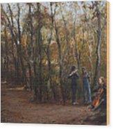 Coloratura Wood Print