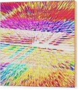 Colorburst Landscape Wood Print
