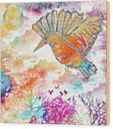 Colored Bird Wood Print