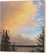 Colored Clouds Wood Print