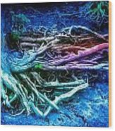 Colored Forest Wood Print by John Ressler