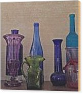 Colored Glass Wood Print
