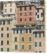 Colored Italian Facades Wood Print