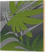 Colored Jungle Green Wood Print