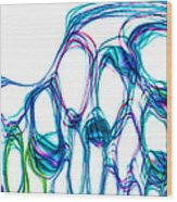 Colored Lights Abstract Wood Print