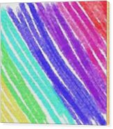 Colored Lines Wood Print