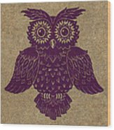 Colored Owl 1 Of 4  Wood Print