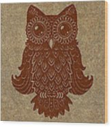 Colored Owl 2 Of 4  Wood Print
